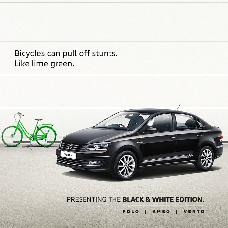 Volkswagen Vento Black & White Special Edition Launched - Volkswagen Goa