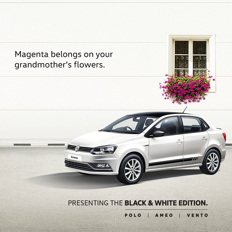 Volkswagen Ameo Black & White Special Edition Launched - Volkswagen Mumbai